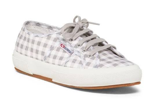 Superga Sneaker in Gray Gingham