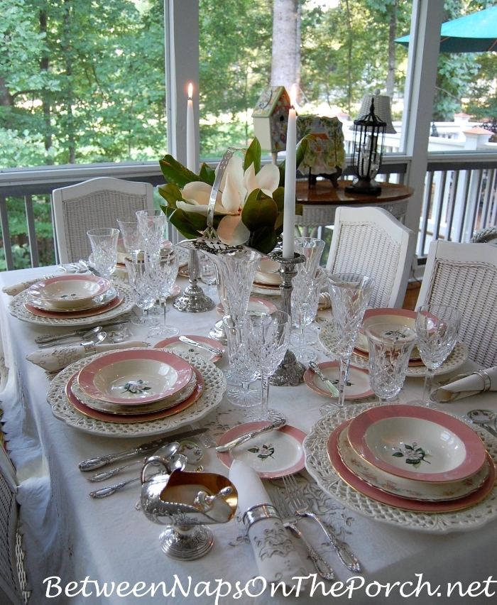 100th Celebration Table Setting for Tablescape Thursday