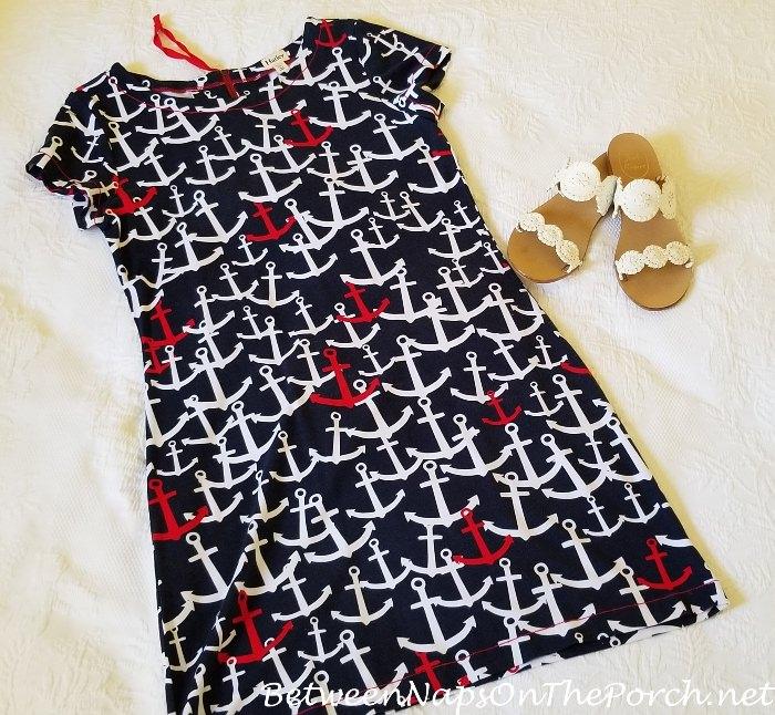 Anchor Summer Dress, Jack Rogers Sandals