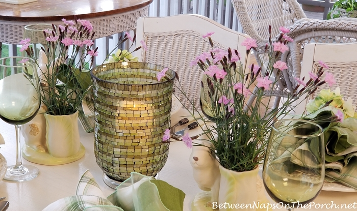 Bath's Pink Dianthus for a Spring Table Setting