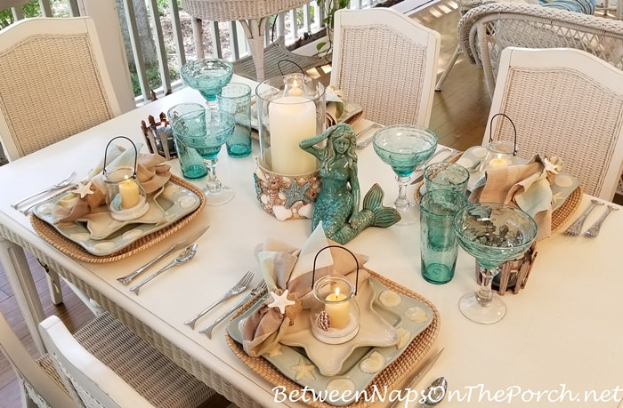 Beach Shell Amp Starfish Themed Table Setting With Shell