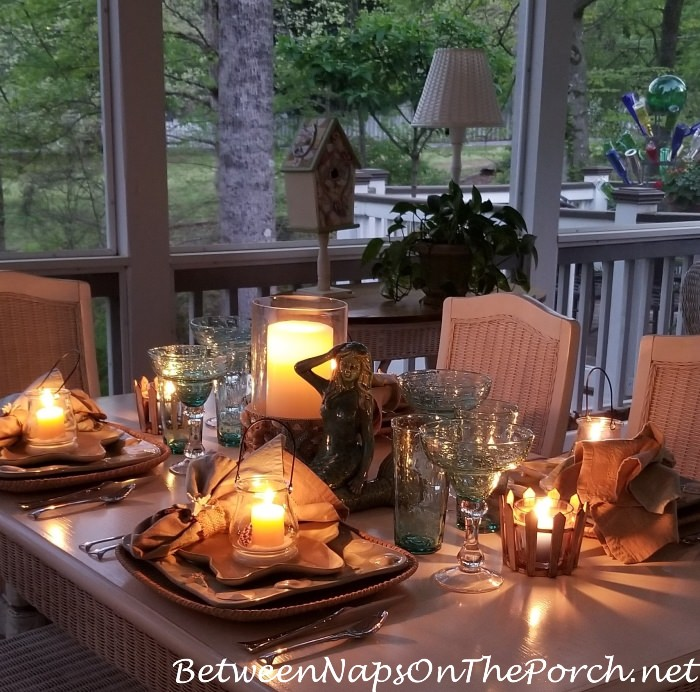 Candlelit Dinner on a Screened Porch