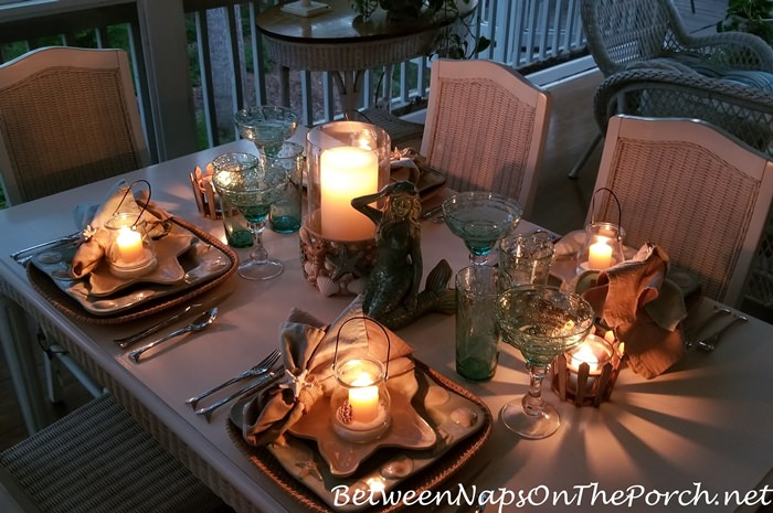Dining by Candlelight on a Screened Porch
