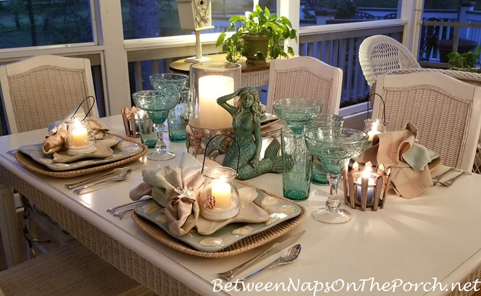 Evening Dining on a Screened Porch