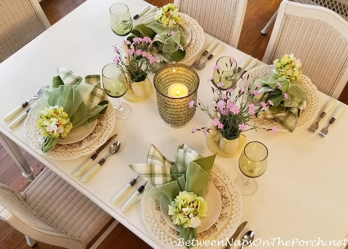 Ideas for Spring Table, Floral Tablescape