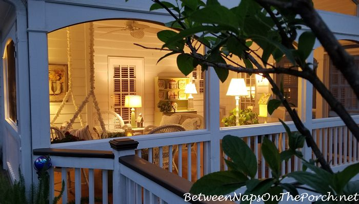 Nightime on a Screened Porch