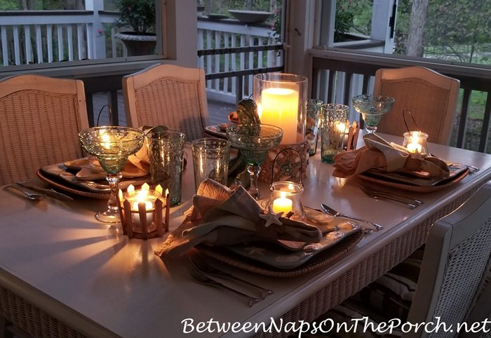 Romantic Candlelight Summer Dinner on the Porch