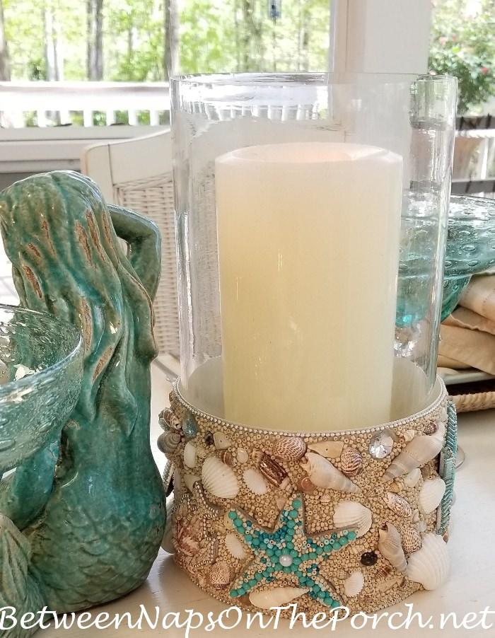 Starfish and Shell Candle Lantern