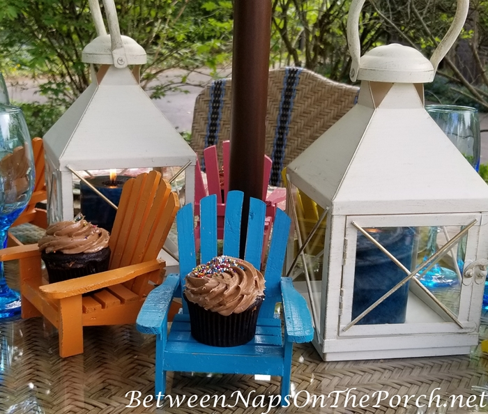 Adirondack Chairs as Cupcake Holder 2