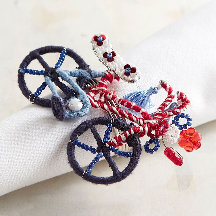 Bicycle Napkin Rings, Beaded