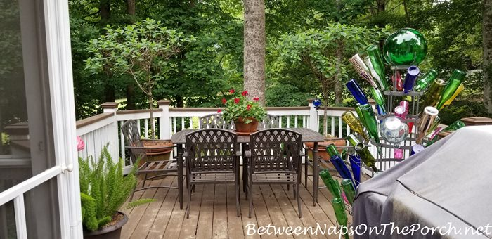 Bottle Tree for the Deck