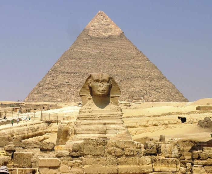 Giza Plateau, Great Sphinx, Pyramid of Khafre