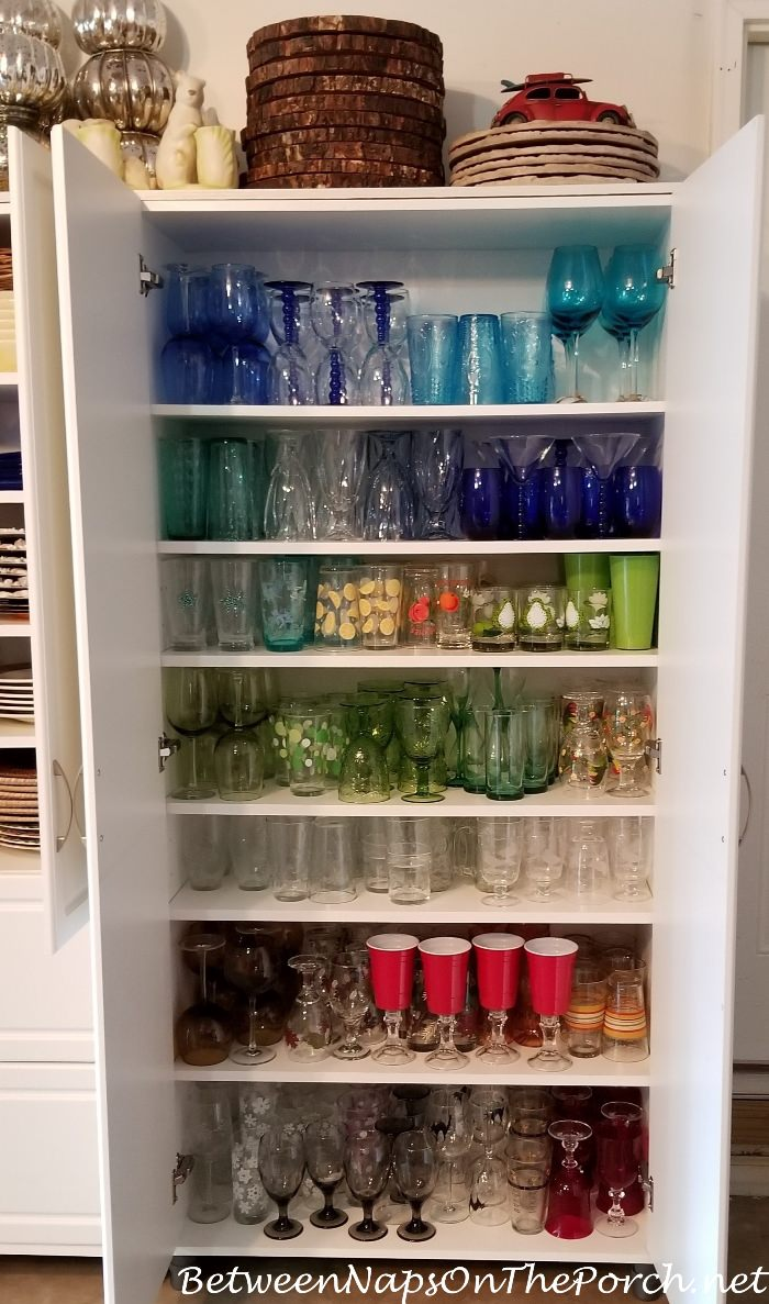 Glassware Storage Ideas, Glass Collection