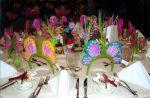 Festive Themed Table Settings for a Hospital Auxiliary Fashion Show