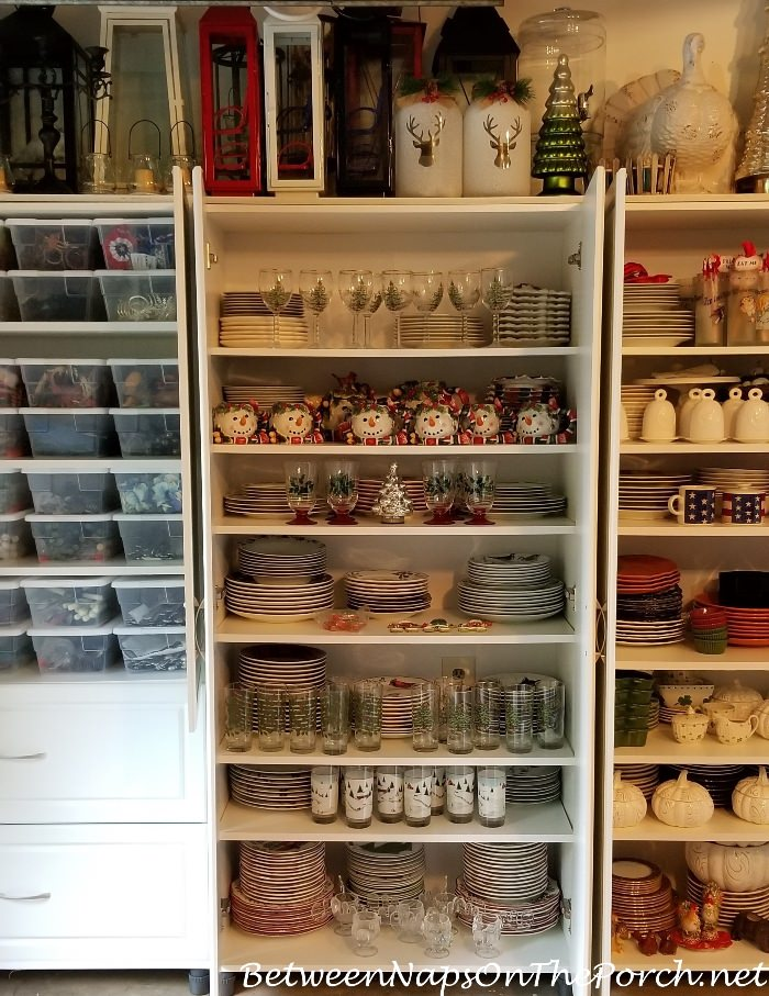 Storage Ideas for Christmas Dishes