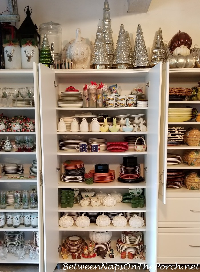 Storage Ideas for Holiday Dinnerware, Dishes