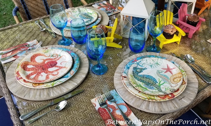 Summer Dinning with Melamind Dinnerware 2
