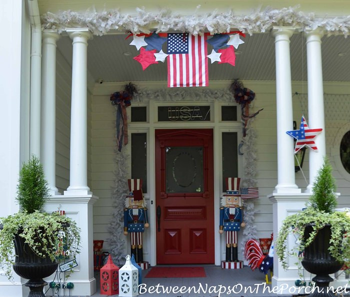 4th of July Decorating, Southern Porch