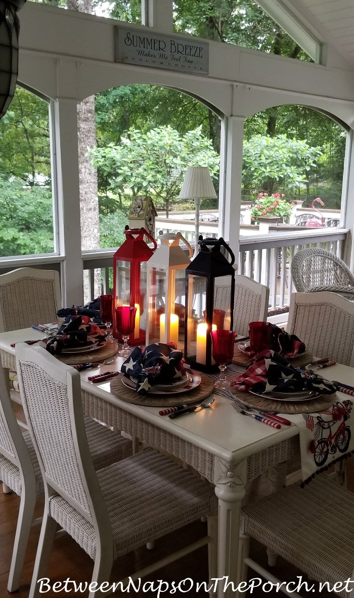 4th of July Table, Candlelight