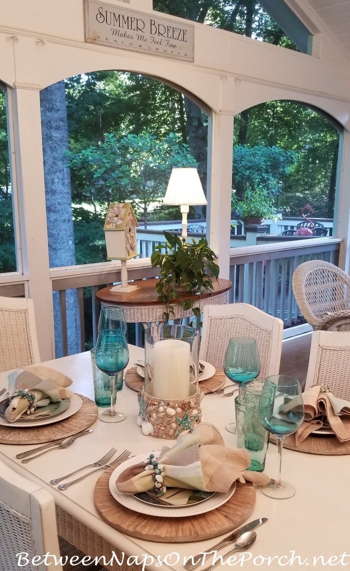 Between Naps On The Porch, Beach Themed Table Setting