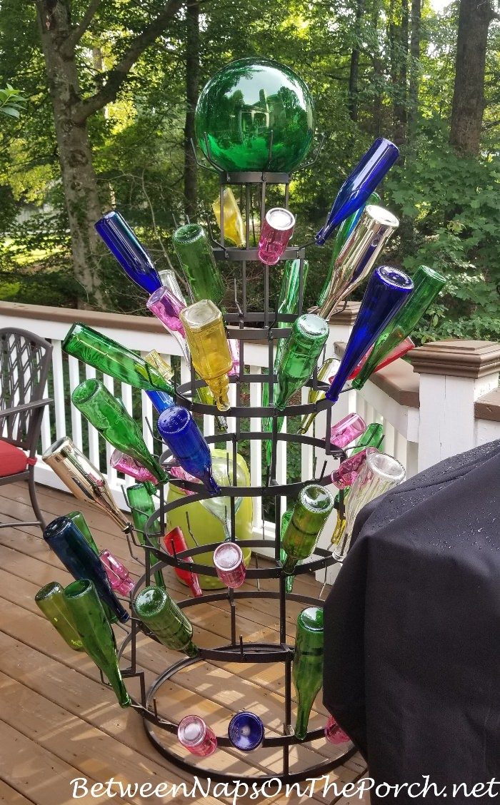 Bottle Tree Freshly Painted