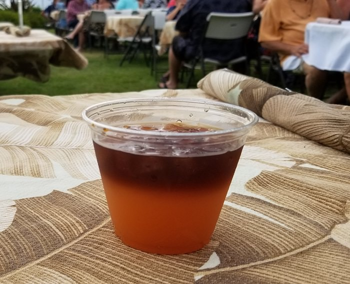 Mai Tai Drink at Luau