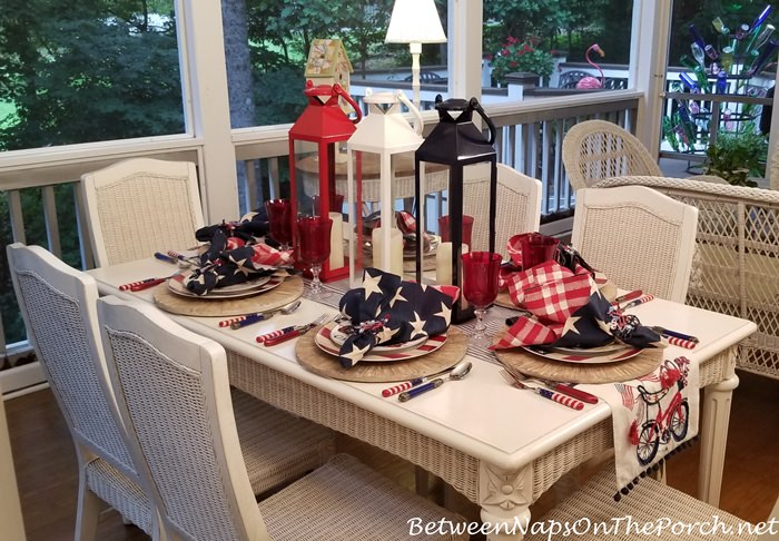 Patriotic 4th of July Tablescape