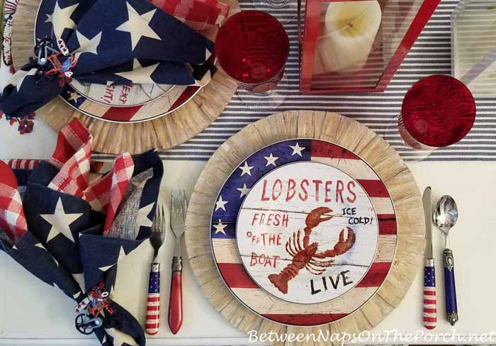Patriotic Table for 4th of July with a Beachy Theme