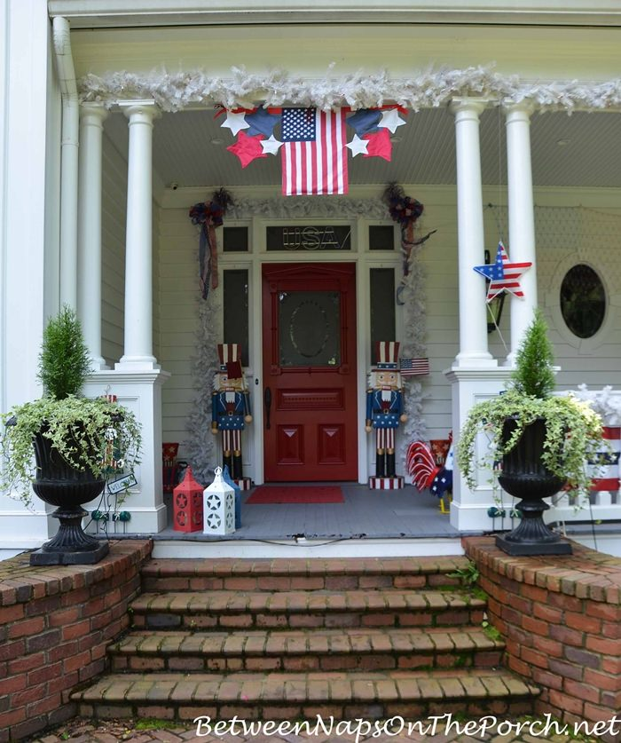 Porch Decorating, Independence Day