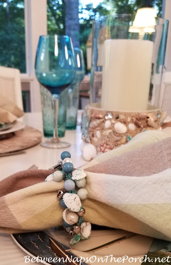 Shell, Bead, Bell Napkin Rings
