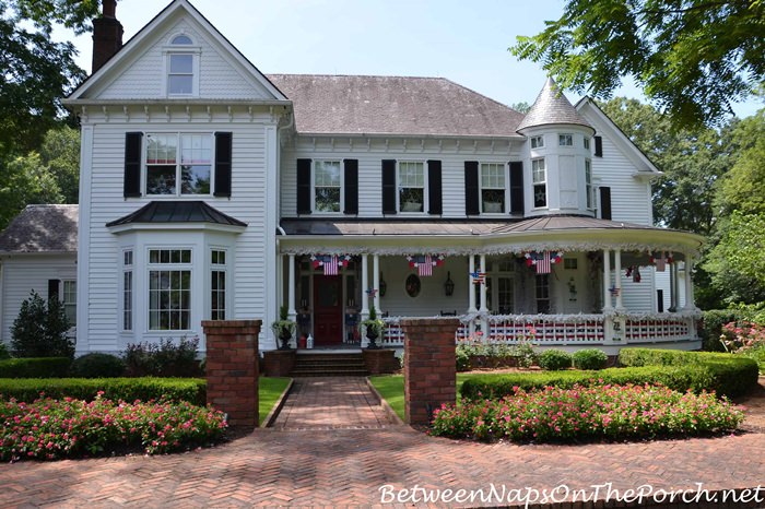 Victorian Home Decorated for the 4th of July