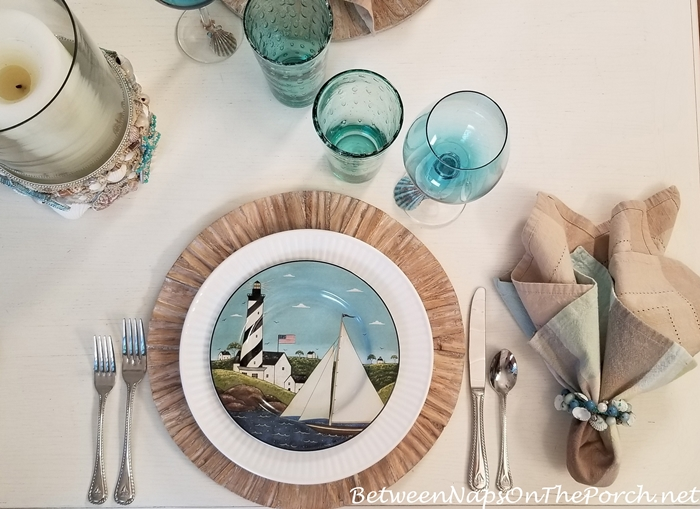 Warren Kimble Coastal Breeze Sailboat Salad Plates