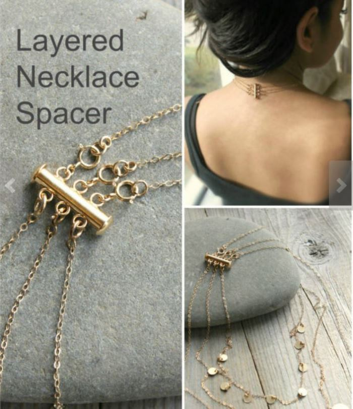 Wear Multiple Necklaces, Necklace Spacer Stops Necklaces From Tangling