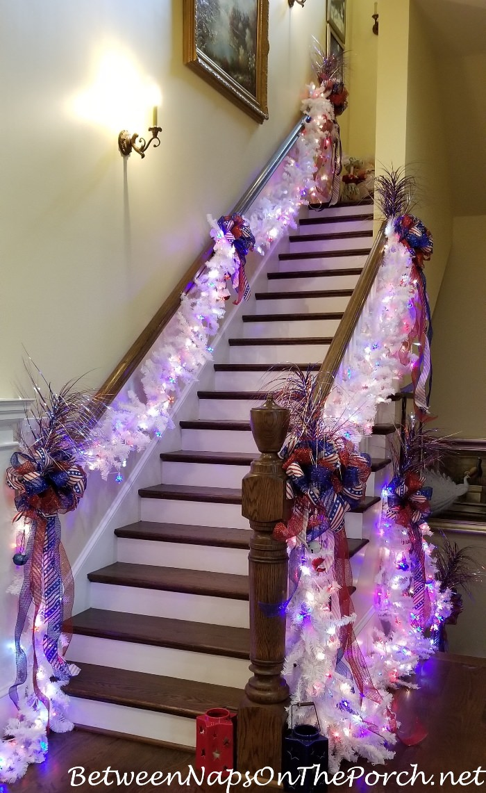 4th of July Staircase Decorations