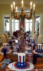 Festive Table Setting for a 4th of July Patriotic Celebration