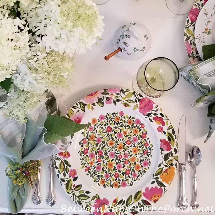 Kim Parker, Emma's Garden Floral Charger Plate