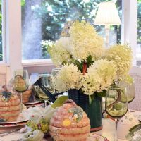 Summer Garden Party Table Setting with a Limelight Hydrangea Centerpiece