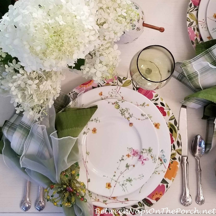 Mikasa Sketch Floral Salad & Dinner Plate