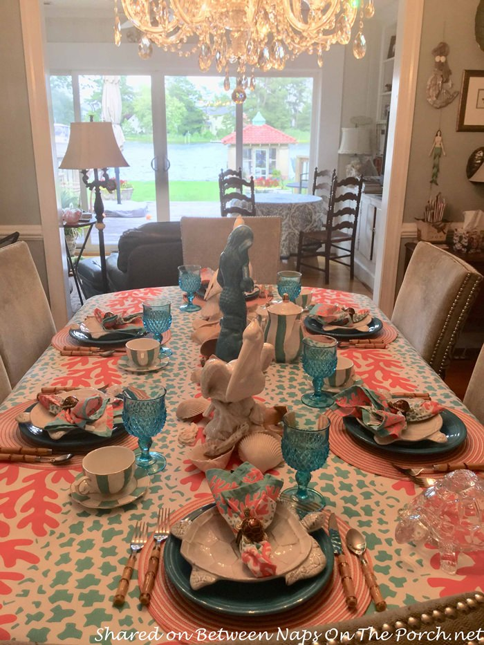 Ocean-Beach Themed Table Setting for Summer