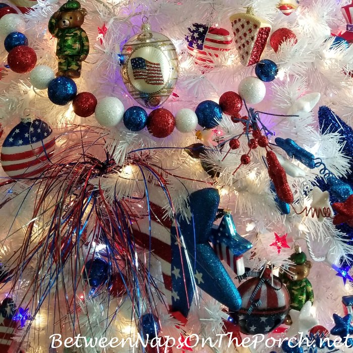 Ornaments, Decorations for 4th of July Tree
