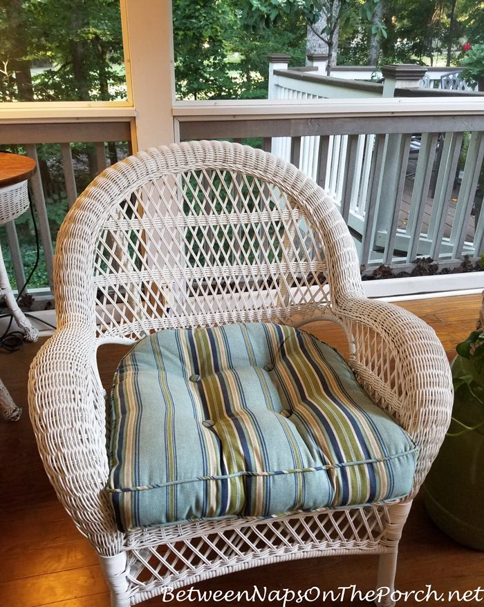 Outdoor Wicker Chair, Freshly Cleaned