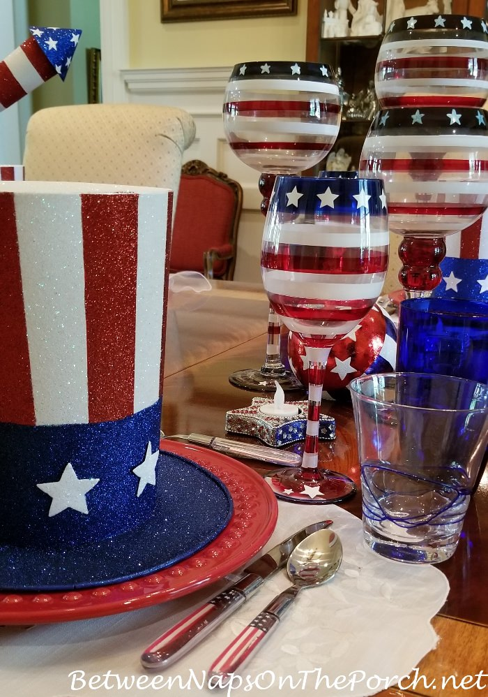 Patriotic Wine Glasses and Stemware