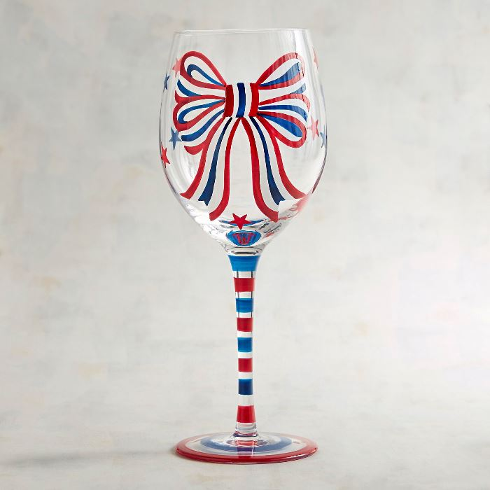 Patriotic Wine Glasses for 4th of July