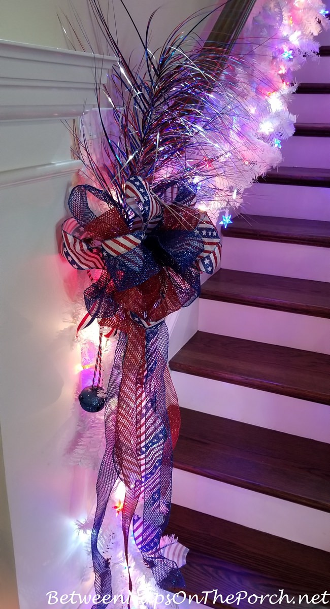 Staircase, 4th of July Decorations