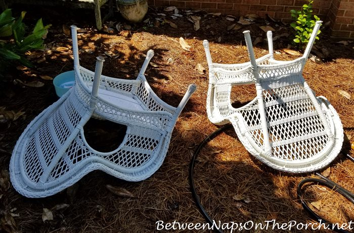 Washing Outdoor Wicker Chairs