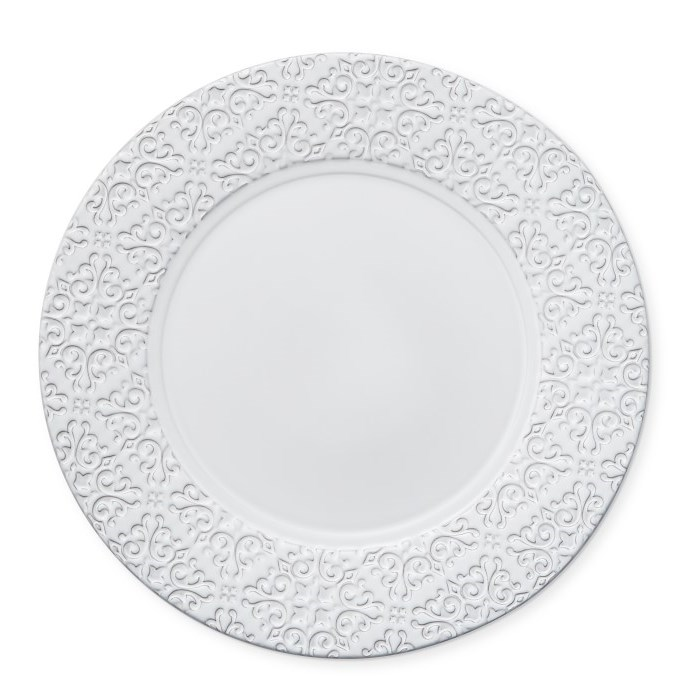 Beautiful Embossed Charger Plates