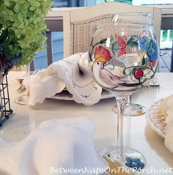 Bird-Themed Wine Glasses