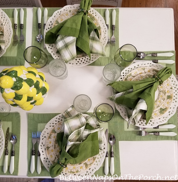 Daisy Dishes for a Summer Table Setting