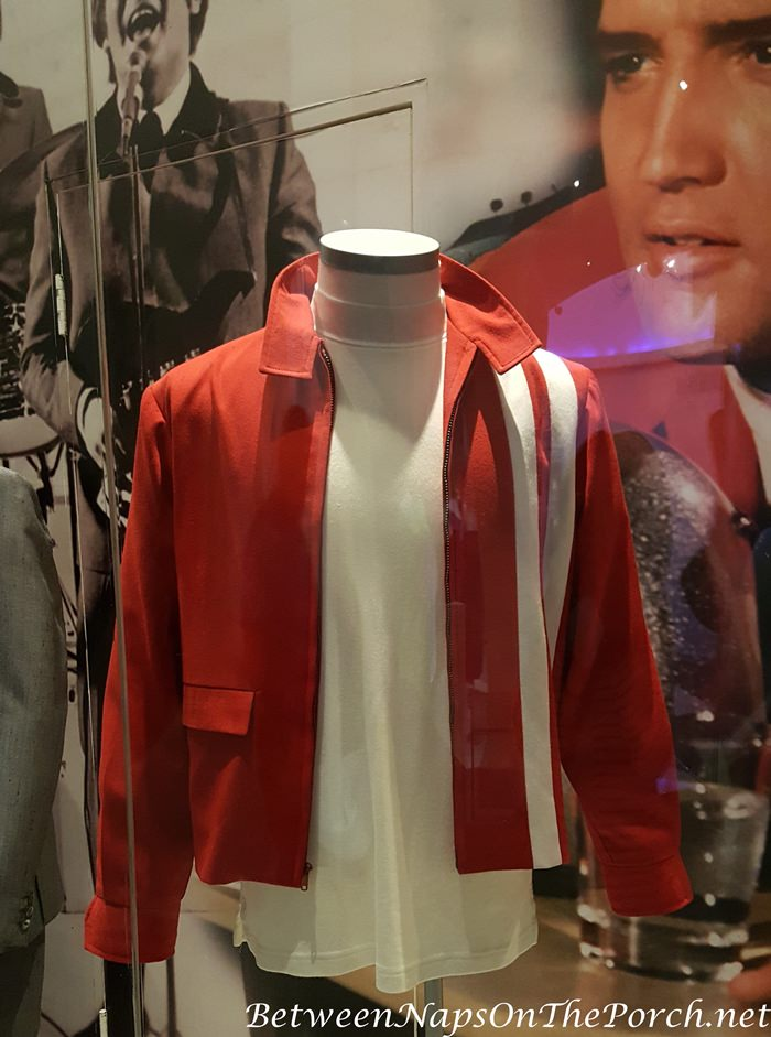 Elvis Presley's Red Jacket and white t-shirt worn in Movie, Speedway in 1968