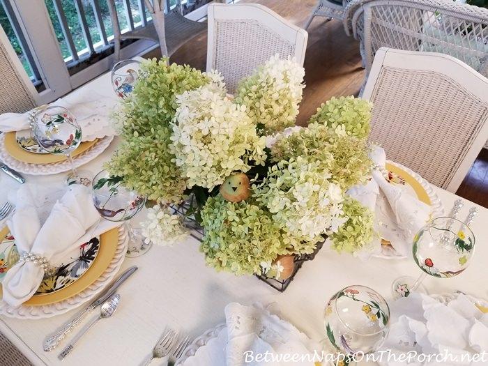 Limelight Hydrangeas Make a Beautiful Summer Centerpiece